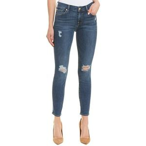 7 For All Mankind The Ankle Skinny Distressed